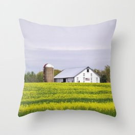 Barn and Silos Throw Pillow