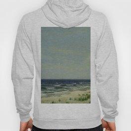 Ocean Beach Nj 1877 By David Johnson   Reproduction   Romanticism Landscape Painter Hoody