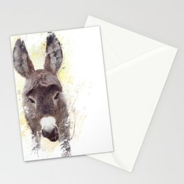 digital painting of young donkey mule Stationery Cards