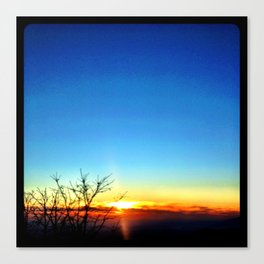 Mountain sunset. Canvas Print