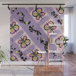 Butterflies in Flight Formation Pattern Wall Mural