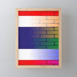 Gay Rainbow Wall Thai Flag Framed Mini Art Print