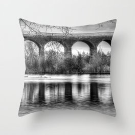 Viaduct at Reddish Vale Country Park Throw Pillow