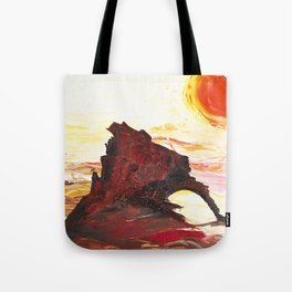 Landscape painting- The Indian - by LiliFlore Tote Bag