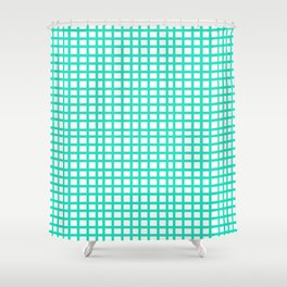LINES in MINT Shower Curtain