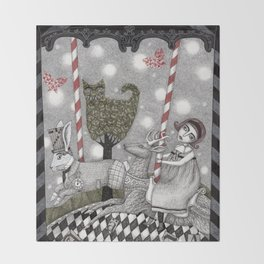 A is for Alice Throw Blanket