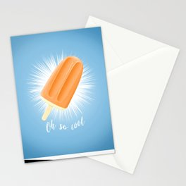 Oh So Cool - Orange Stationery Cards