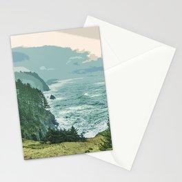 Oregon Coast Sunrise in Simplified Color Stationery Cards