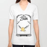 legend of zelda V-neck T-shirts featuring Zelda legend - Navi by Art & Be