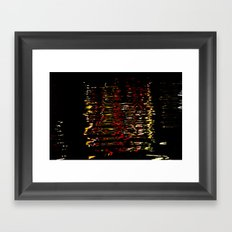 River Lights Framed Art Print