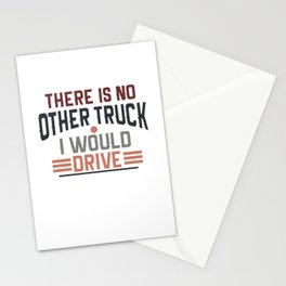 Truck transport logistics driver highway Stationery Cards