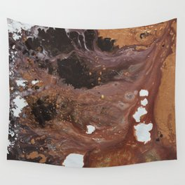 Copper abstract liquidity. Wall Tapestry