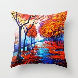 Tardis Art Tree Blossom Throw Pillow