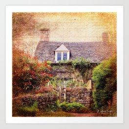 Cotswolds Cottage Art Print