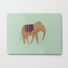 Elephant: Stitch & Fauna Metal Print
