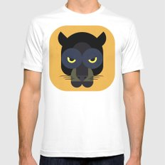 Black Panther White MEDIUM Mens Fitted Tee