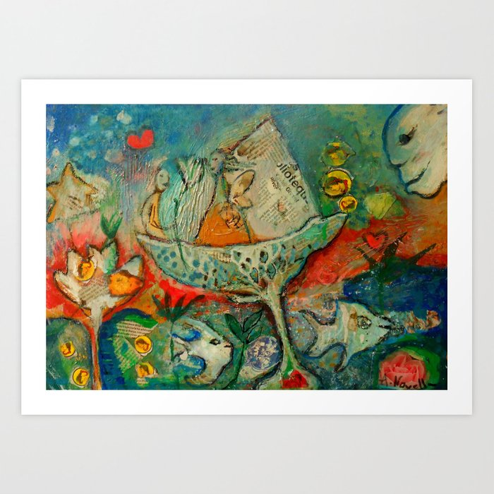 WATER FLOWER Art Print