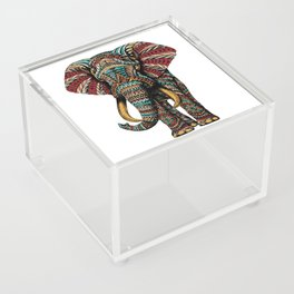 Ornate Elephant (Color Version) Acrylic Box