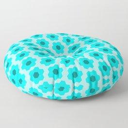 Floral No. 2 -- Cyan Floor Pillow