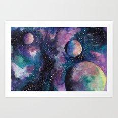 Three Planets Art Print