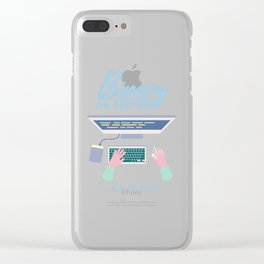 Computer Programmer: Binary It's Easy As 1 2 3 Clear iPhone Case