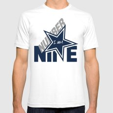 I Am Number 9 Mens Fitted Tee MEDIUM White