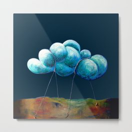 Cloud Tied Metal Print