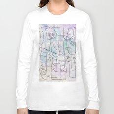 maze with swirls Long Sleeve T-shirt