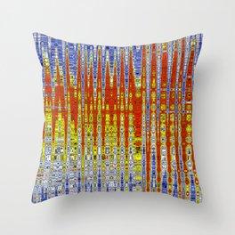 Colour in Tempo Throw Pillow