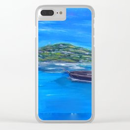 Boat on the water Clear iPhone Case