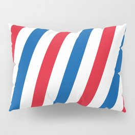 Blue, white and red stripes pattern Pillow Sham