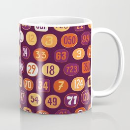 Motocross Racing Numbers Coffee Mug