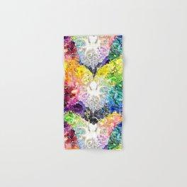 Rainbow Spectrum heart extra dense pattern Hand & Bath Towel