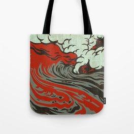 Lava Meets The Sea Tote Bag