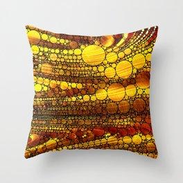 Golden Sun Strata Throw Pillow