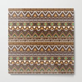 African Inspired Tribals Metal Print