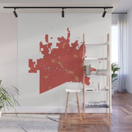 McKinney Texas Minimalist Map (Peach) Wall Mural