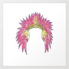 Watercolor Headdress Art Print