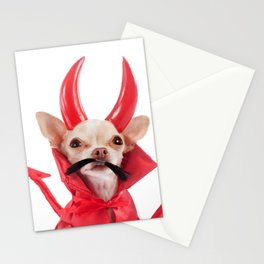 devil chihuahua Stationery Cards