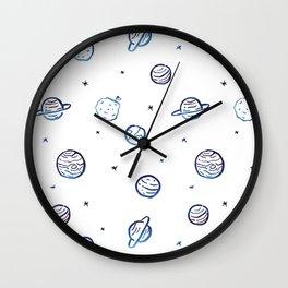 Planets pattern Wall Clock