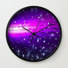 Ice Cream Comet. Fashion Textures Wall Clock