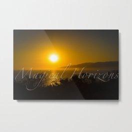 Magical Horizons Malibu w/ Text Metal Print