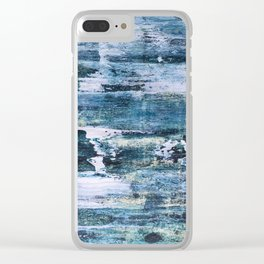 Trick or treat, dirty blue Clear iPhone Case