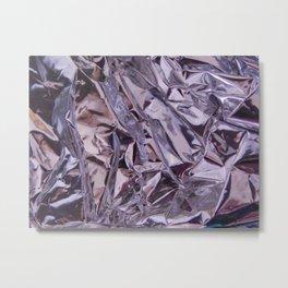 Chrome Folds Metal Print