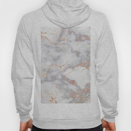 Gray Marble Rosegold  Glitter Pink Metallic Foil Style Hoody