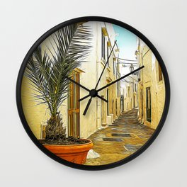 Typical village in Salento Wall Clock