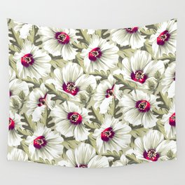 New Zealand Hibiscus Floral Print (Day) Wall Tapestry