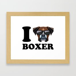I Love Boxer modern v1 Framed Art Print