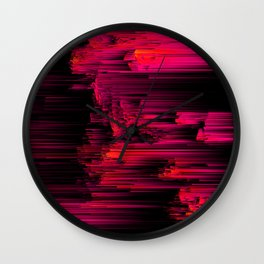 Burnout - Glitch Abstract Pixel Art Wall Clock