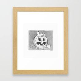 Snoopy Halloween Framed Art Print